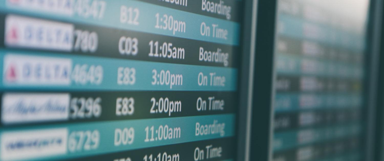 Airline Ankunft und Abflug Information